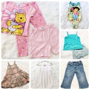 Girls Bundle Lot Size 5 Swim Jeans Dresses Top